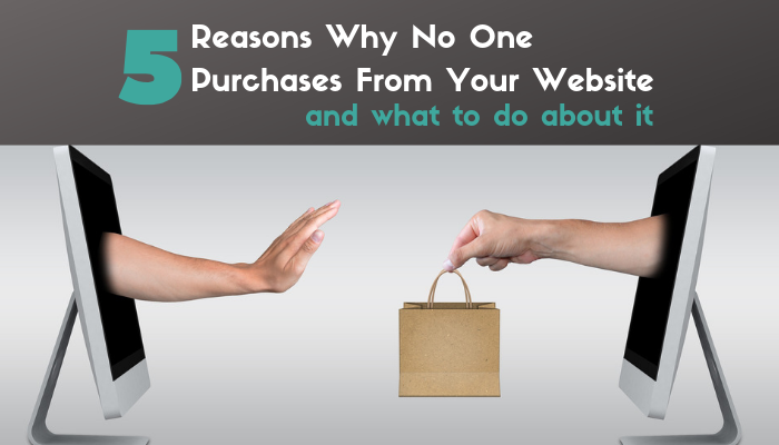 Reasons why no one purchases from your website