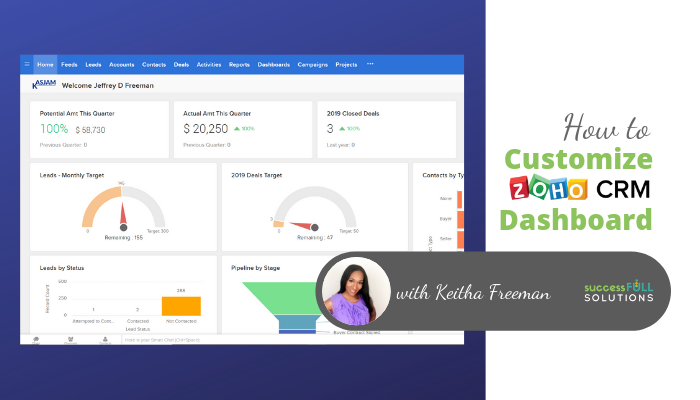 How to customize Zoho CRM Dashboard